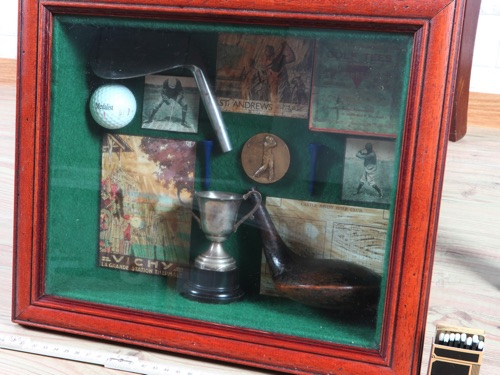 Golf Memorabilia antik.St. Andrews Niblick Iron Taylor Cambridge Cordon Bleu