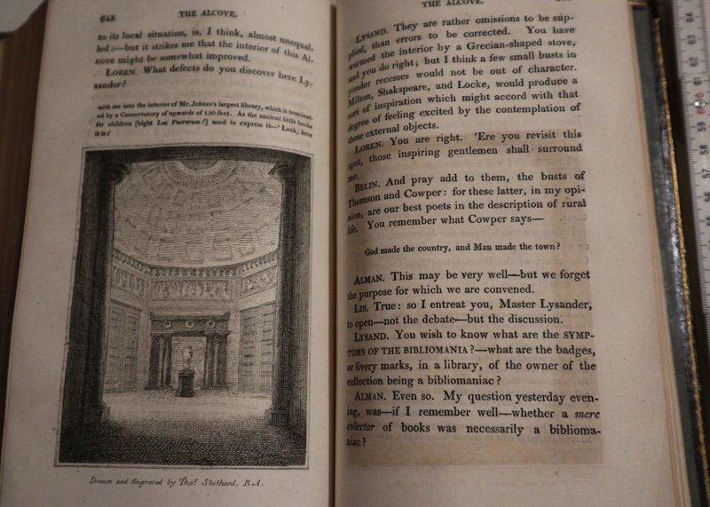 Bibliomania or Book of Madness Buch antik London 1811
