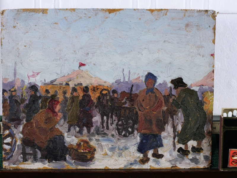 old russian oil painting market Penza