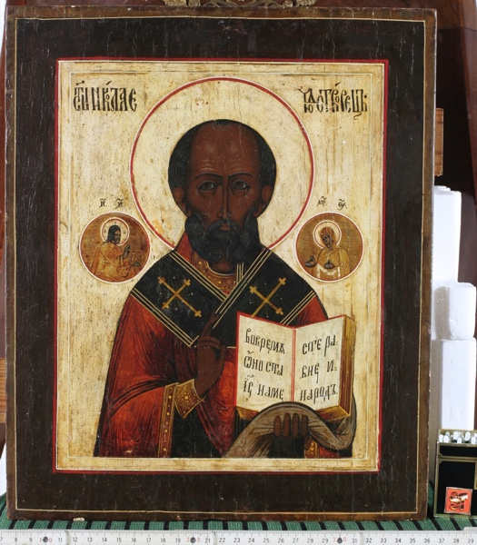 old russian icon holy saint Nicholas