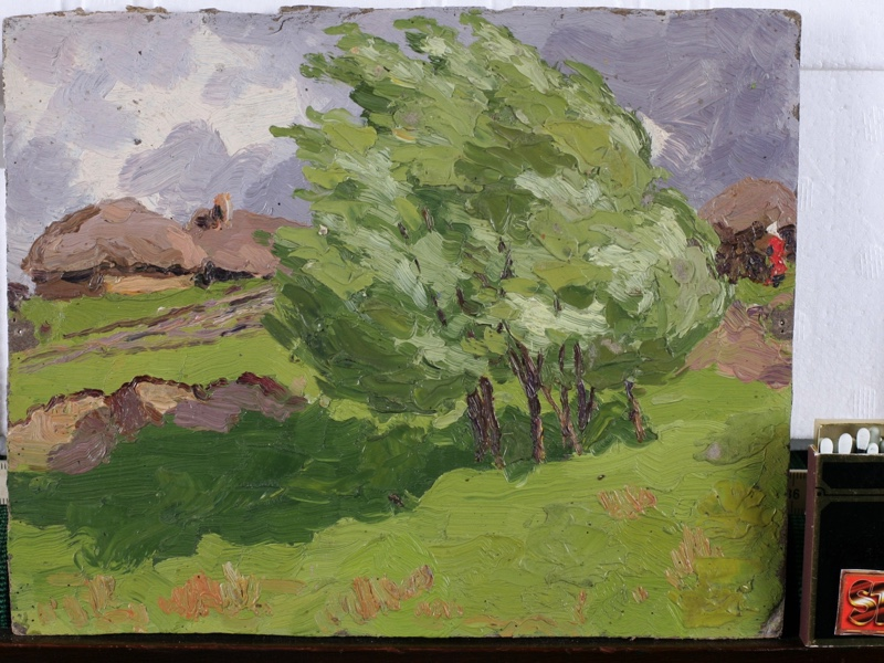 old russian oil painting Penza 1906 Konstantin expressive